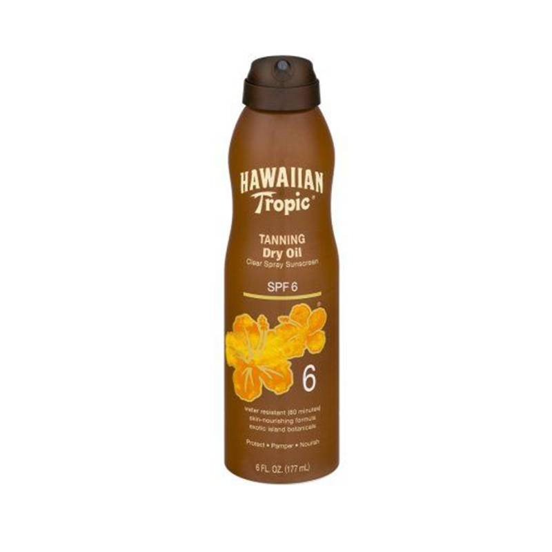Hawaiian Tropic Argan oil spf 6 177 ml protezione solare spray