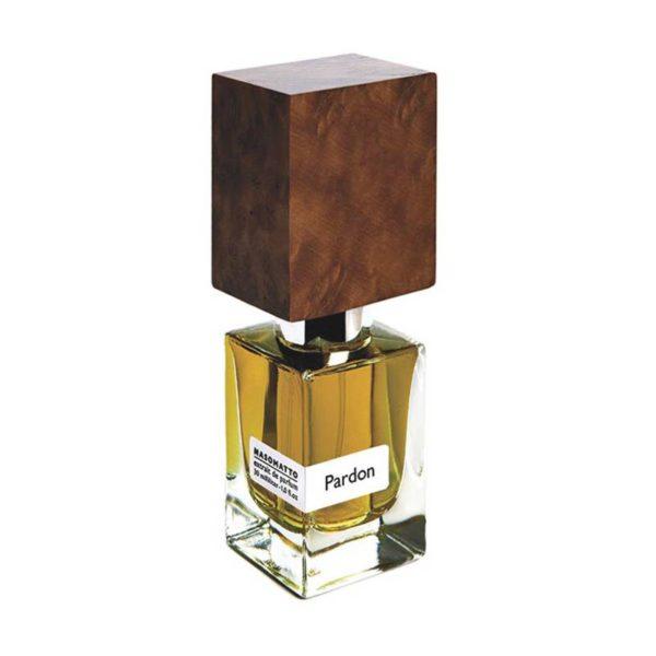 NASOMATTO PARDON 30 ML Extrait De Parfum Spray 30 ml Questa bottiglia di profumo fa partedel progetto Nasomatto. La fragranza mira ad evocare l?aura suadente del fascino e dell'eleganza maschile.
