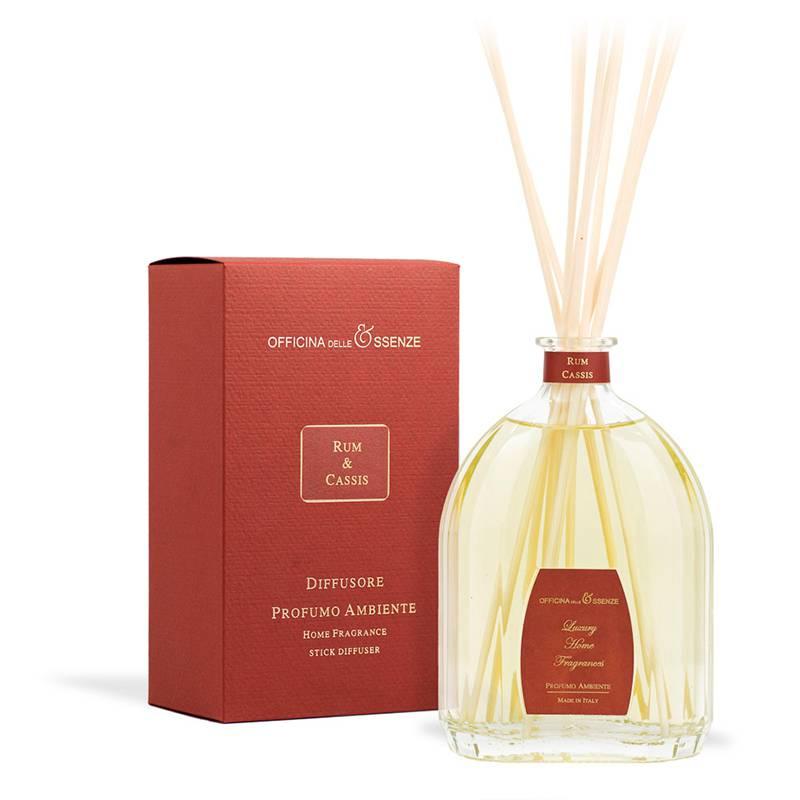 Officina delle Essenze Rum & Cassis diffusore profumo con bacchette