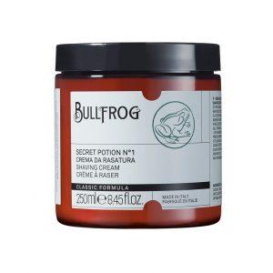 Bullfrog Crema da rasatura contenitore in vetro da 200 ml