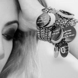 10 BUONI PROPOSITI DA OGGI bracciale in acciaio nichel free