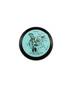 Blue Barbershop Sapone da barba Razorock 150 ml Ispirato al dopobarba della spagnola Floid fragranza Blue. Una profumazione fresca e rinvigorente accompagna la rasatura con aggiunta di note di bergamotto, limone e lavanda. Sapone a pasta morbida, monta rapidamente producendo una schiuma ricca e protettiva, formula a base di lanolina, Aloe Vera, Burro di Karitè ed olio di Argan.