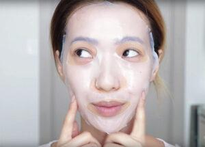 maschera per la skincare coreana