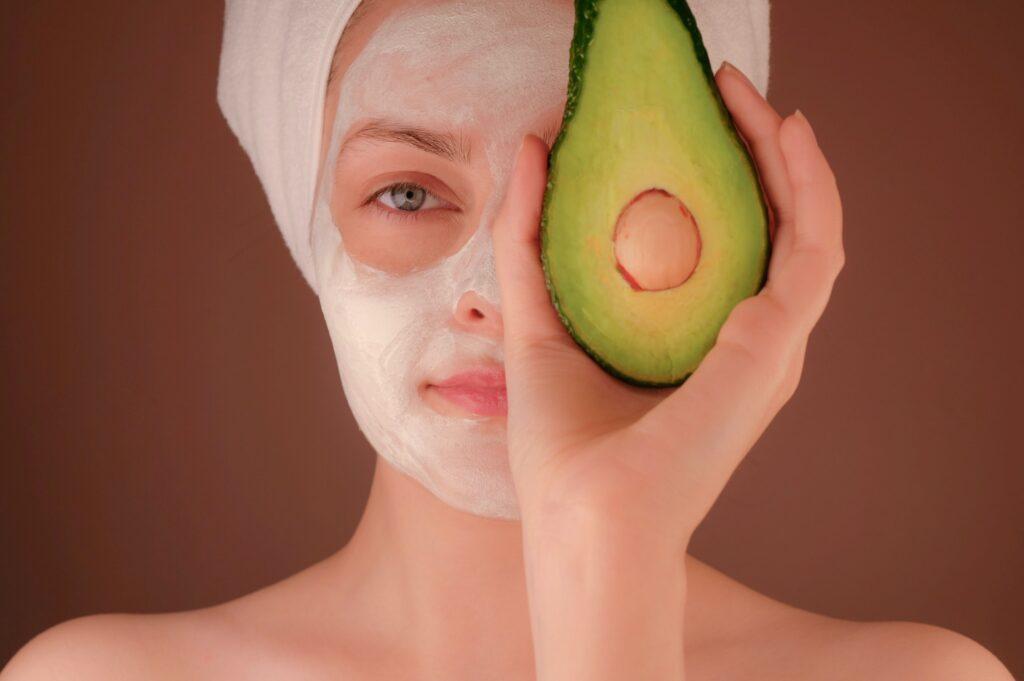 maschera per viso per pelle sensibile
